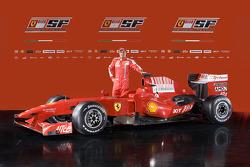 Felipe Massa with the new Ferrari F60