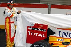 Fernando Alonso con el Renault R29
