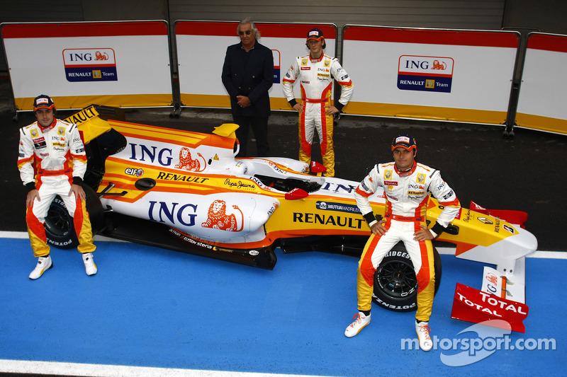 2008 и 2009 годы: Нельсон Пике, Renault. Весь сезон-2008 и с 1 по 10 Гран При сезона-2009