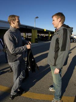 Jorg Bergmeister with Motorsport.com's John Dagys