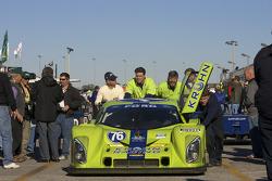 #76 Krohn Racing Ford Lola pushed to pitlane