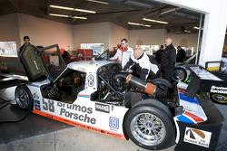 Brumos Racing team members at work