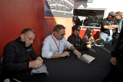 Andy Wallace, Rob Finlay, Casey Mears and Danica Patrick