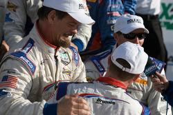 DP victory lane: race winner David Donohue celebrates with JC France