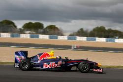 Sebastian Vettel tests the new Red Bull RB5