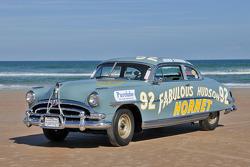 Living legends of auto racing beach parade: Hudson Hornet