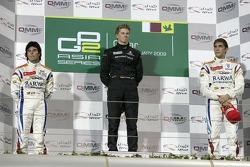 Podium: winner Nico Hulkenberg, second place Sergio Perez, third place Vitaly Petrov