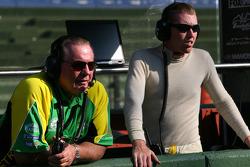 Alan Jones, Seat Holder of A1 Team Australia and John Martin, driver of A1 Team Australia
