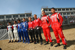 Nissan drivers group photo