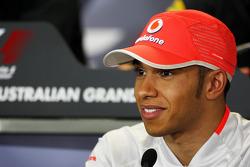 Conférence de presse FIA: Lewis Hamilton, McLaren Mercedes