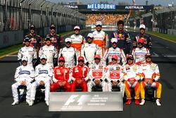 Foto de grupo de los pilotos del Campeonato de Fórmula uno de 2009