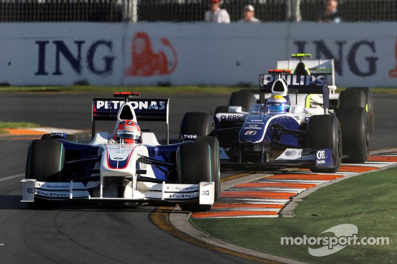 Robert Kubica, BMW Sauber F1 Team, F1.09; Nico Rosberg, Williams F1 Team, FW31