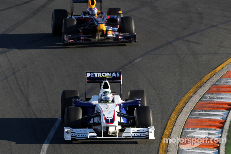 Nick Heidfeld, BMW Sauber F1 Team, F1.09; Mark Webber, Red Bull Racing, RB5