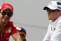 Felipe Massa, Scuderia Ferrari, Robert Kubica, BMW Sauber F1 Team