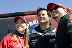Robby Gordon meets with fans at the Jim Beam bus