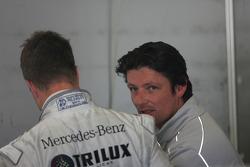 Ralf Schumacher, Team HWA AMG Mercedes C-Klasse and Axel Randolph, HWA Mercedes, race engineer