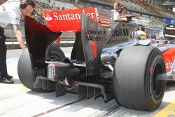 Lewis Hamilton, McLaren Mercedes with a new rear Diffuser