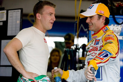 A.J. Allmendinger, Richard Petty Motorsports Dodge and Jeff Gordon, Hendrick Motorsports Chevrolet