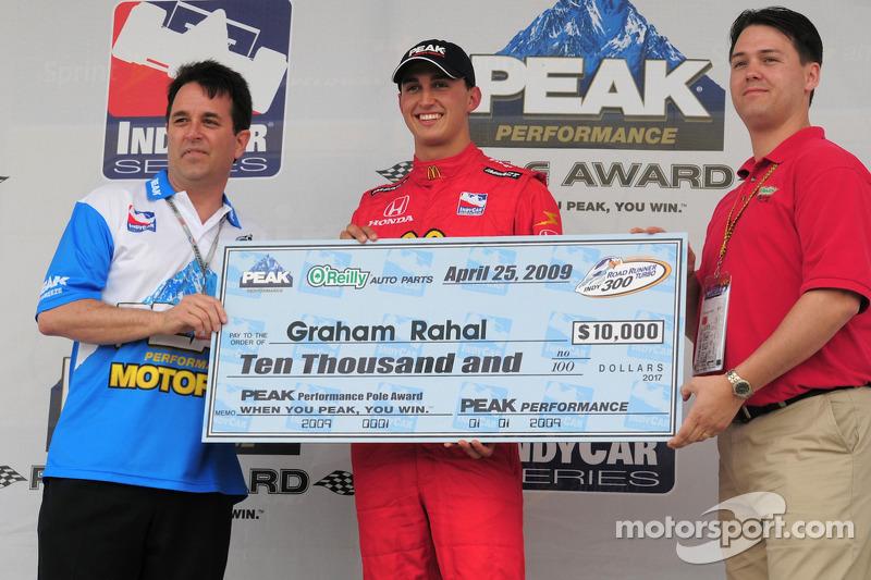 Pole winner Graham Rahal, Newman/Haas/Lanigan Racing