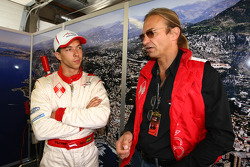Clivio Piccione Driver of A1 Team Monaco and Hubertus Bahlsen Driver of A1 Team Monaco