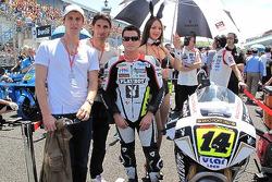 Randy De Puniet, LCR Honda MotoGP and his charming umbrella girl