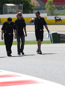 Sebastian Vettel, Red Bull Racing walking the circuit
