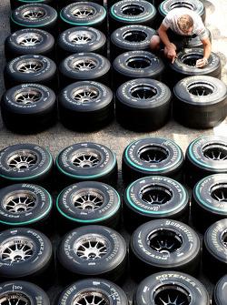 Tyres of McLaren-Mercedes