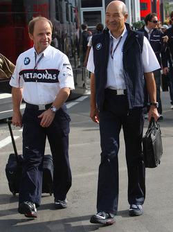 Josef Leberer, BMW Sauber F1 Team en Peter Sauber, BMW Sauber F1 Team