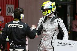 Pole winner Jenson Button, Brawn GP