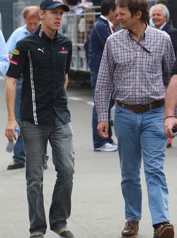 Sebastian Vettel, Red Bull Racing talks to Michael Schmidt