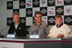 Steve Knapp, Josele Garza and Jerry Sneva, former Rookies of the Year