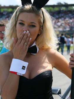 Playboy bunny blowing a kiss