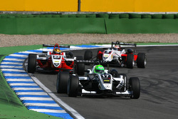 Kevin Mirocha, HBR Motorsport, Dallara F308 Mercedes, leads Esteban Gutierrez, ART Grand Prix, Dallara F308 Mercedes, Basil Shaaban, Prema Powerteam, Dallara F308 Mercedes