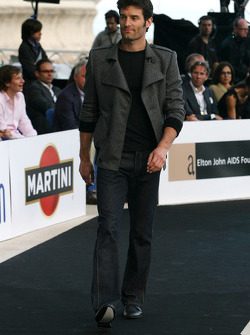 Mark Webber, Red Bull Racing at the fashion show