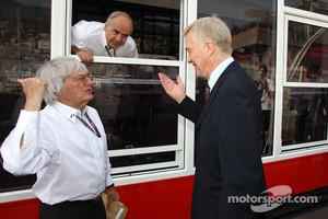 Bernie Ecclestone and ex_FIA President Max Mosley