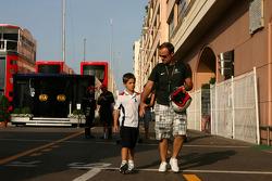 Rubens Barrichello, Brawn GP and his son