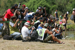 Photographers cover the action