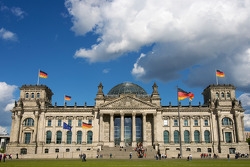 Visit of Berlin: the Reichstag buliding