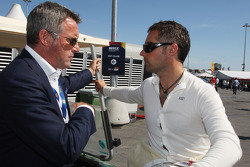 Marcello Lotti, General Manager of KSO and Andy Priaulx, BMW Team UK, BMW 320si