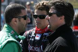 Tony Kanaan, Andretti Green Racing, Marco Andretti, Andretti Green Racing and Michael Andretti