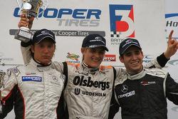 Renger van der Zande, Marcus Ericsson and Walter Grubmuller