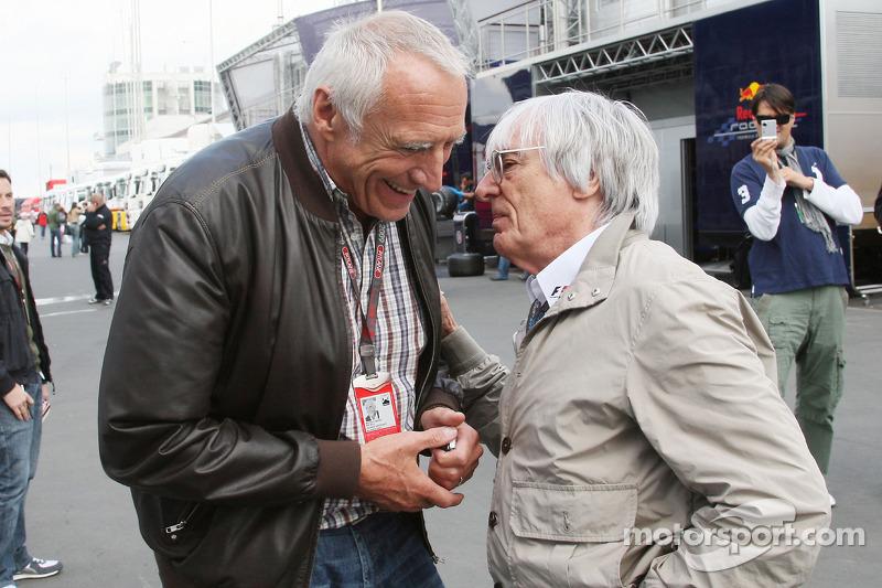 Dietrich Mateschitz, eigenaar Red Bull, Bernie Ecclestone