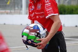 Helmet of Dario Franchitti, Target Chip Ganassi Racing