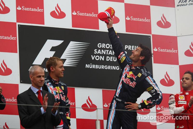 Podium: 1. Mark Webber, Red Bull Racing; 2. Sebastian Vettel, Red Bull Racing; 3. Felipe Massa, Ferr