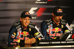 FIA press conference: race winner Mark Webber, Red Bull Racing, second place Sebastian Vettel