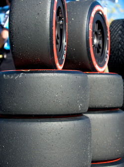 Tire Detail in pitlane