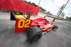 Wrecked car of Graham Rahal, Newman/Haas/Lanigan Racing