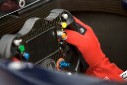 Simon Pagenaud hand and steering wheel