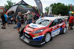 Ford Fiestas on display during Fanfest in downtown Colorado Springs