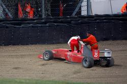 Milos Pavlovic retires in race 2